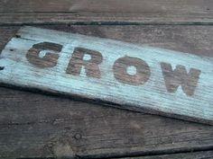 DIY Garden Barnwood Sign