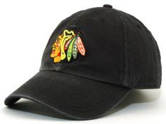 Chicago Blackhawks Black Unstructured Slouch Hat by American Needle | Sports World Chicago $19.95
