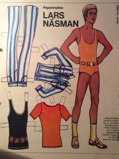 Finnish paper doll Lars Näsman 70's
