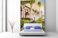 Fotomural con vistas a jardín de palacio #fotomural #mural #pared #decoracion #deco #TeleAdhesivo