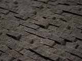 off of extreme homes. use for flooring. Basalt Black Grey 1/2 x 1 Small Split Face Staggered StoneTile