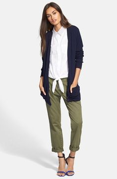 Equipment Cardigan, Top & Current/Elliott Trousers available at #Nordstrom