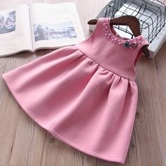 Herbst Baby Mädchen Kleid rot ärmelloses Kleid Prinzessin Kleid … – – join in the world of pin Baby Girl Party Dresses, Little Girl Dresses, Girls Dresses, Dress Girl, Dress Party, Infant Dresses, Baby Party, Kids Outfits Girls, Cute Outfits For Kids