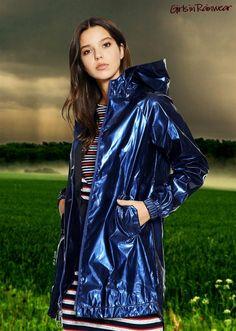 image Blauer Regenmantel, Jacken, Regnerischer Tag Mode, Regen Mäntel, Pvc- regenmantel 9b2471b337