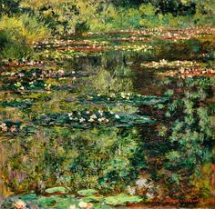 Claude Monet - Waterlily pond.