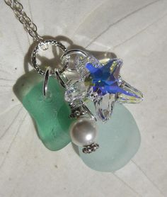 Starfish Necklace in Sea Glass A Charmed Life of Seaglass. $29.00, via Etsy.