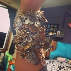 Bracelet Envy! 34 and counting for this super fan! #CharmedArms