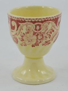 Vintage Royal Doulton Pomeroy Red Transferware Egg Cup