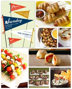 Super Bowl Party Inspiration Board