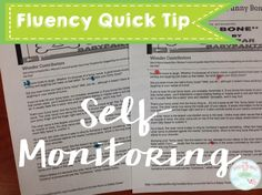 Great tip for helping students monitor their own disfluencies.