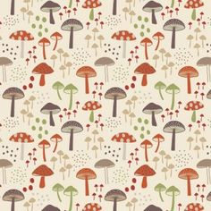 http://www.plushaddict.co.uk/all-fabric/quilting-weight-cottons/by-collection/fox-and-friends-lewis-and-irene/lewis-irene-fox-friends-cream-toadstools.html Lewis & Irene - Fox & Friends Cream Toadstools
