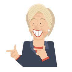 Politician caricatures - Hillary Clinton http://keuj.net/portfolio