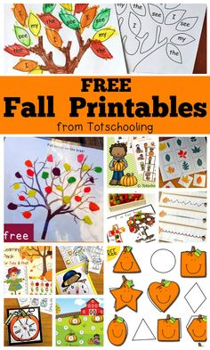 Fall Worksheets for Kindergarten. 20 Fall Worksheets for Kindergarten. Free Fall Worksheets for Kids Preschool Lesson Plans, Free Preschool, Preschool Printables, Kindergarten Worksheets, Preschool Fall Theme, October Preschool Themes, Preschool Kindergarten, Toddler Preschool, Kindergarten Fall Art Lessons