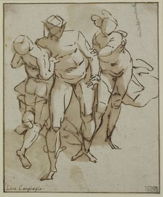 1527 in Luca Cambiaso Drawings   Circle of Luca Cambiaso (1527 – 1585)