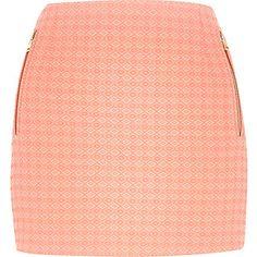 Coral diamond jacquard mini skirts £25 #riverisland
