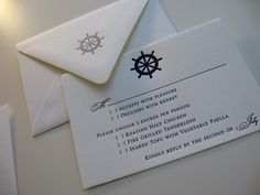 nautical rsvp card
