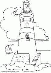 Resultado de imagen de dibujos de faros maritimos