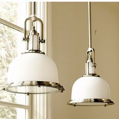 Newport Pendant, for over the kitchen sink maybe? I like that it might give off light through the shade too.