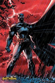 batman all comiic books photos | Batman Red Rain 24x36 DC Comic Book Poster