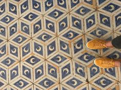 The floor in the Duomo Library.