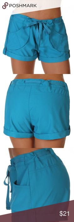 M /& S Girls Turquoise Blue Frilled Thick Jersey Shorts BNWT