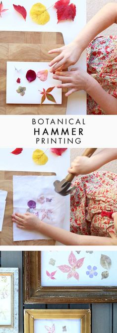 Are you looking for something a little bit different from the usual drawing and colouring? If you have older kids, try this super fun botanical hammer printing, they will LOVE it! It's fun, easy, works with every season, and the results are beautiful (perfect for room decor or a unique, thoughtful gift). Check out the detailed tutorial from on the blog.