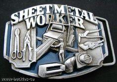 SHEETMETAL SHOP SHEET METAL WORKERS OPERATORS TOOLS MACHINES BELT BUCKLE BUCKLES