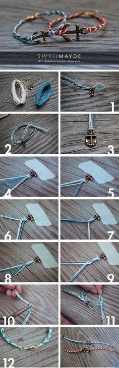DIY-braided rope bracelet
