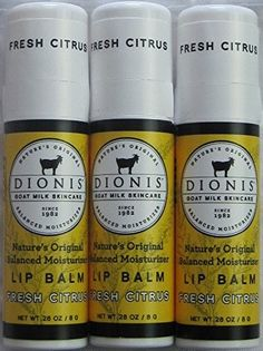 Dionis Lip Balm Fresh Citrus 0 28 Oz Tube Pack Of 3 In A