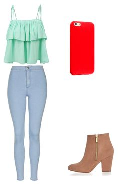 """Cute Casual Outfit"" by fungiral on Polyvore featuring LE3NO, Topshop and River Island"