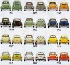 VW BUGs through the years