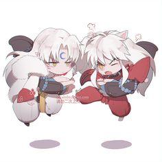 Inuyasha And Sesshomaru, Inuyasha Love, Miroku, Kagome Higurashi, Badass Anime, Manga Anime, Anime Art, Dibujos Anime Chibi, Kawaii Faces