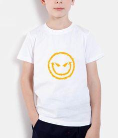 Evil Smiley Face kids t shirts streetwear hip hop fashion 2017 summer brand clothing children t-shirts homme boys girls t shirt