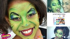 Easy Witch Costume Face Paint Design Idea - YouTube