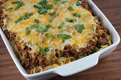 May have to tweak this a little to make it a little more lower-calorie, but looks yummy!  Southwestern Spaghetti