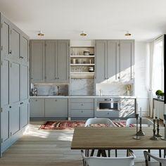 Swedish Kitchen, Scandinavian Kitchen, Open Plan Kitchen, Swedish Style,  Kitchen Interior, Norfolk, Kitchen Designs, Kitchen Ideas, Ceiling Lights