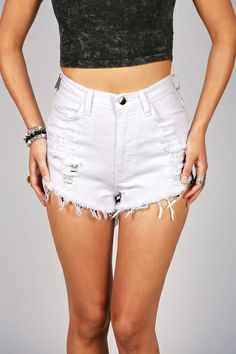 'Slicker High Waist Shorts' get #Trendy Clothes! #trendyclothing #shorts #denimshorts #whiteshorts #cuteshorts #shortshorts #rippedshorts #denim #highwaist #highrise #highwaisted PinkIce.com Ripped Shorts, Cute Shorts, High Waisted Shorts, Denim Shorts, My Wallet, Piece Of Clothing, Trendy Outfits, Girl Fashion, Style Inspiration