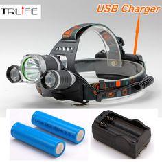 TOOGOO R XML-T6 USB 5 V 1200LM Lumiere LED frontale du velo Phare frontale du velo A 3 modes