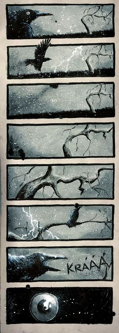 """Crows Ravens:  """"#Raven's Tree,"""" by DevCageR, at deviantART."""