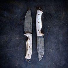"""VORN SLÁ  9"""" OAL CPM S35VN steel Cryo treated  Elk antler / brass pins Order yours at vorn-knives.com  #huntingknife #hunting #blade #elk #handmade #madeinusa #merica #2a"""