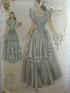 Vintage+Apron+Patterns+Free | APRON DRESS SEWING PATTERN « FREE Knitting PATTERNS