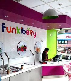 Funkiberry Frozen Yogurt Shop Design And Branding Commerical Interior News