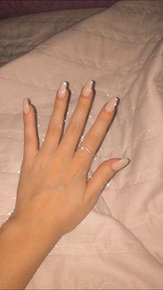 Unha branca, simples e linda Nails, White Nail Beds, Simple, Finger Nails, Ongles, Nail, Nail Manicure