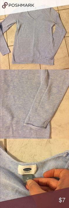 Old navy light blue sweater Old navy v-neck light blue sweater. Great basic sweater for fall or winter! Old Navy Sweaters V-Necks