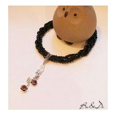 Handmade design 925 sterling silver crystal bead necklace