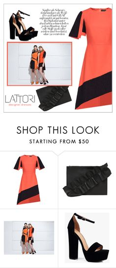 """LATTORI dress"" by water-polo ❤ liked on Polyvore featuring Lattori, MSGM, Boohoo, polyvoreeditorial and lattori"