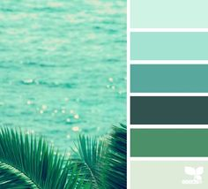 Gradazioni di verde-acqua e verde-petrolio