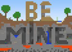 /r/minecraft: Minecraft style Valentine's Day card