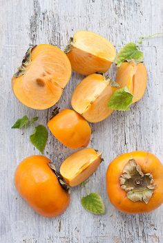 Japanese Persimmon. My grandmother has these trees in her front yard in Japan and we would eat them in the Fall.