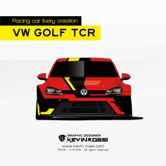 Livery creation on Volkswagen Golf TCR available.